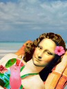Mona Lisa on the beach